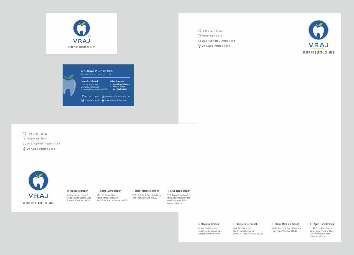 stationery design for dental clinic