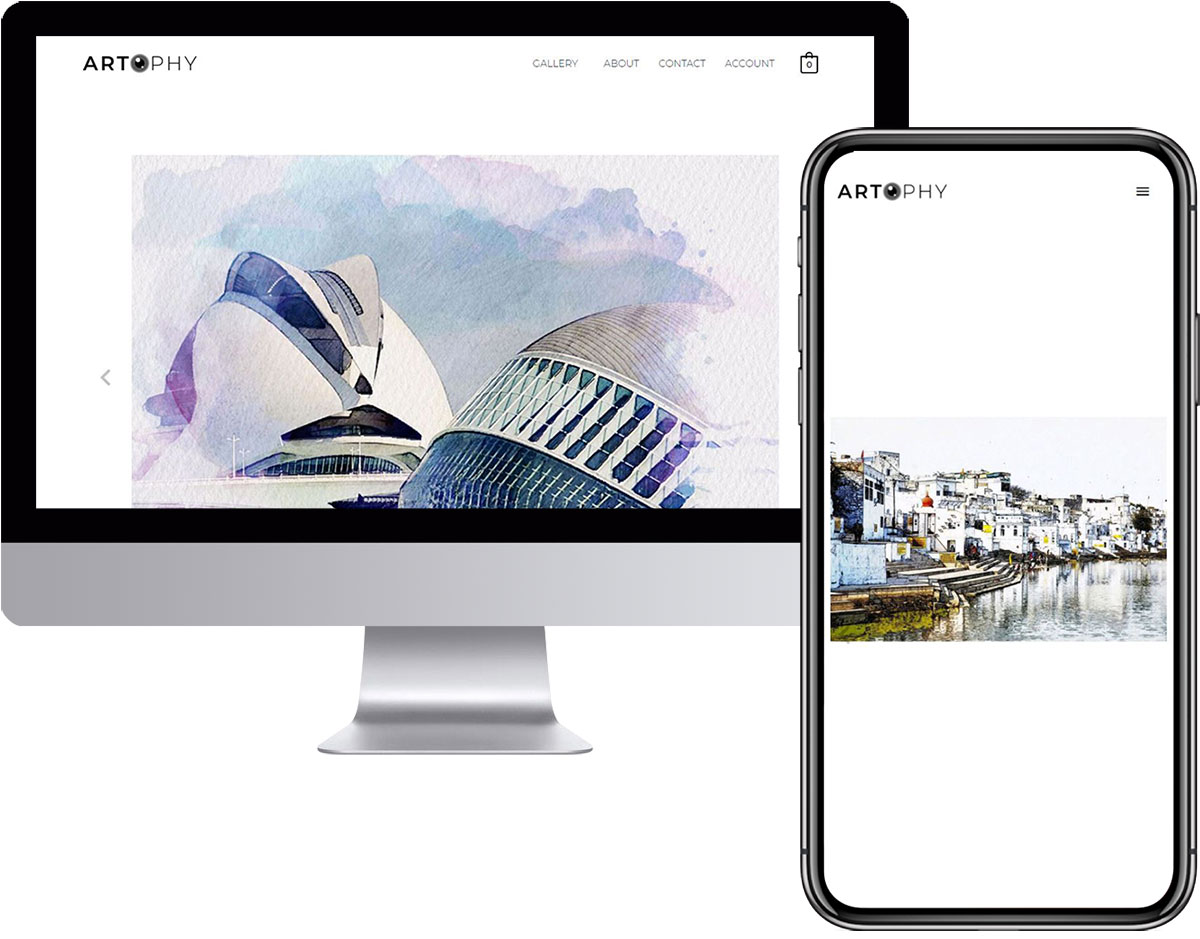 e-commerce website design and development for photograph painting