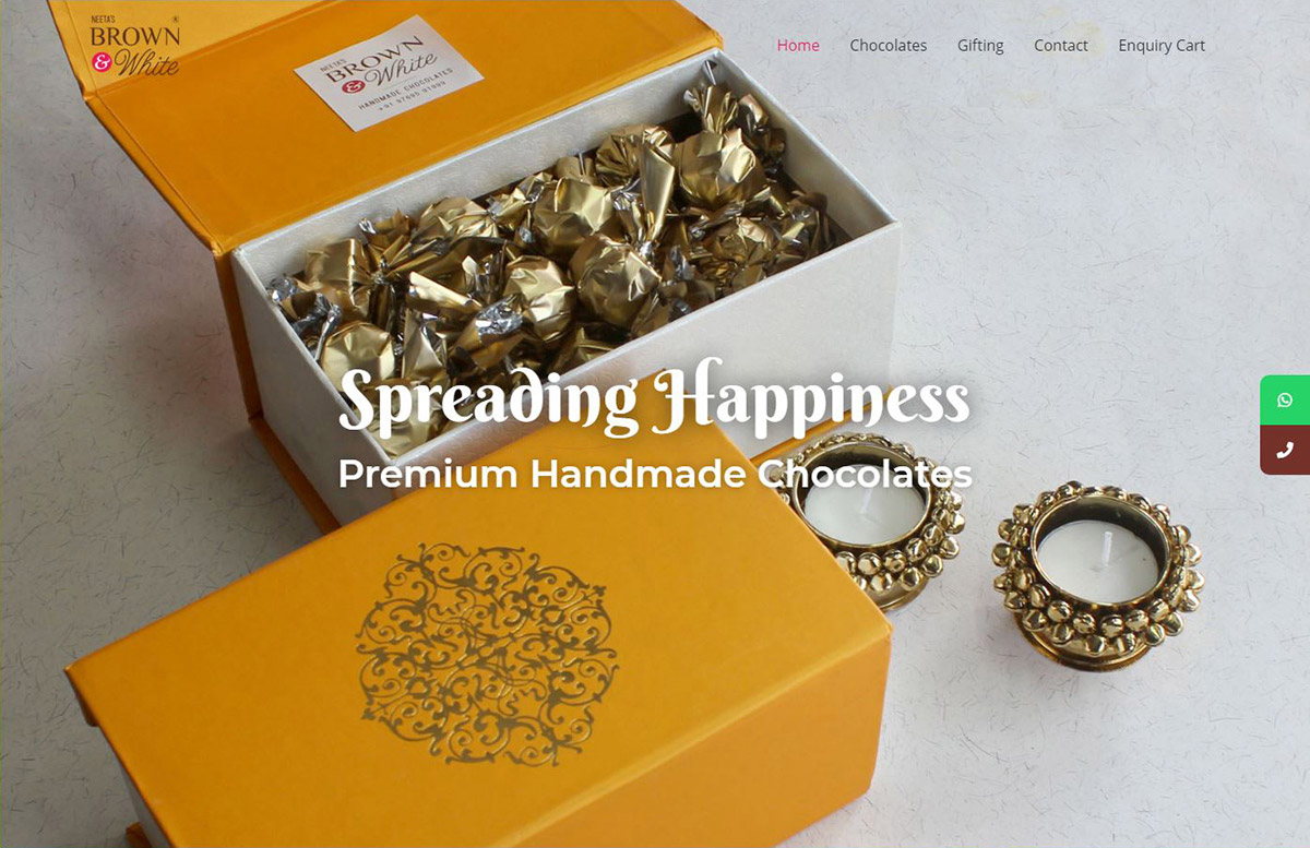 e-commerce website design for handmade chocolate artisan