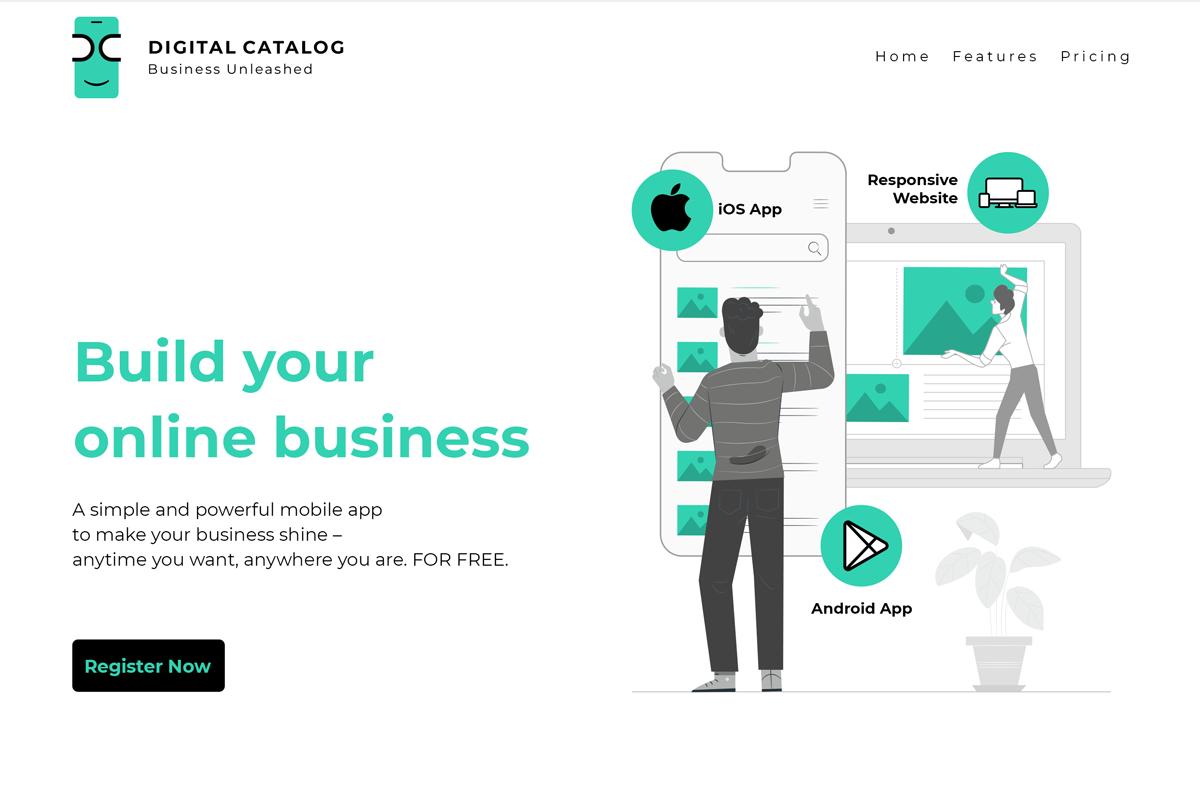 eCommerce website design for app