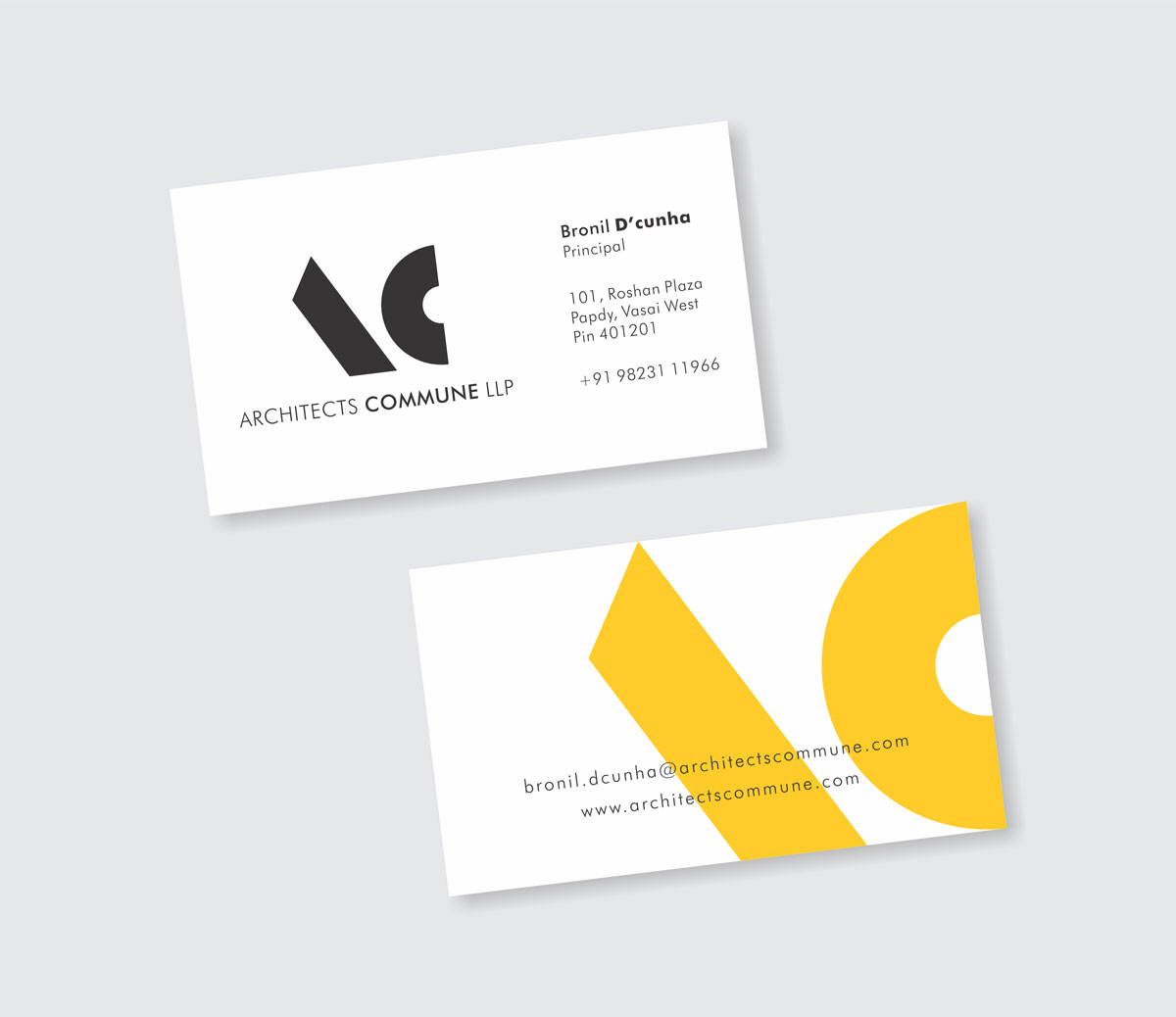 business card design, visiting card design for architect