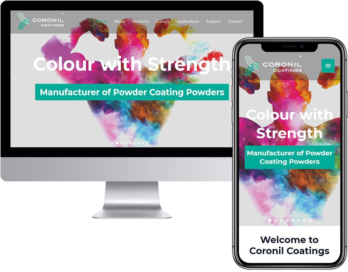Website Design for Mfr of Powder Coating Powders
