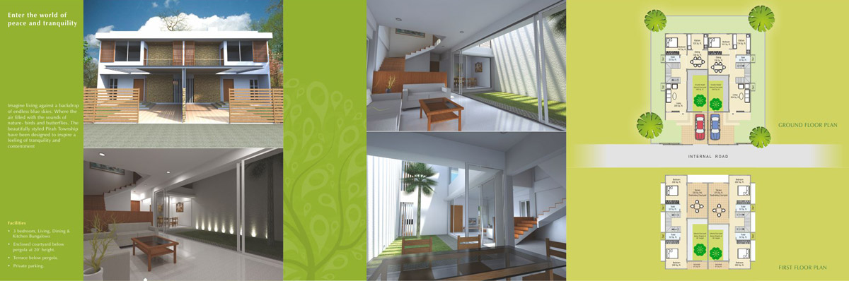 Brochure Design for Bungalows Project