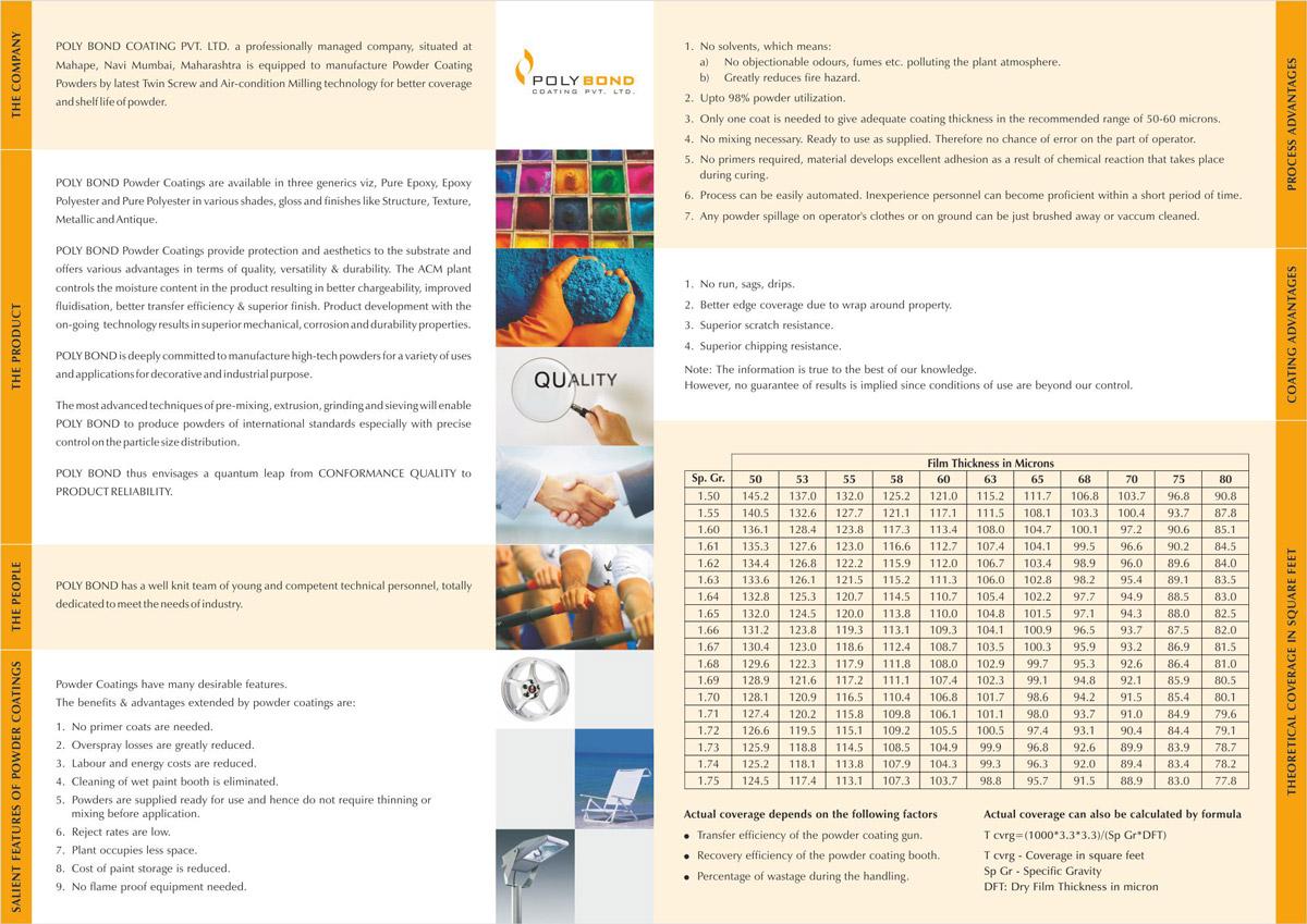 Brochure Design for Mfr. Powder Coating Powders