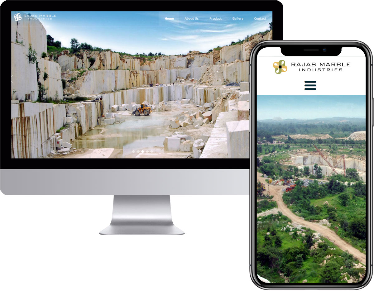 Website Design for Marble Mining Company