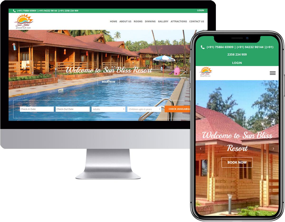Room Booking Website Design for Resort