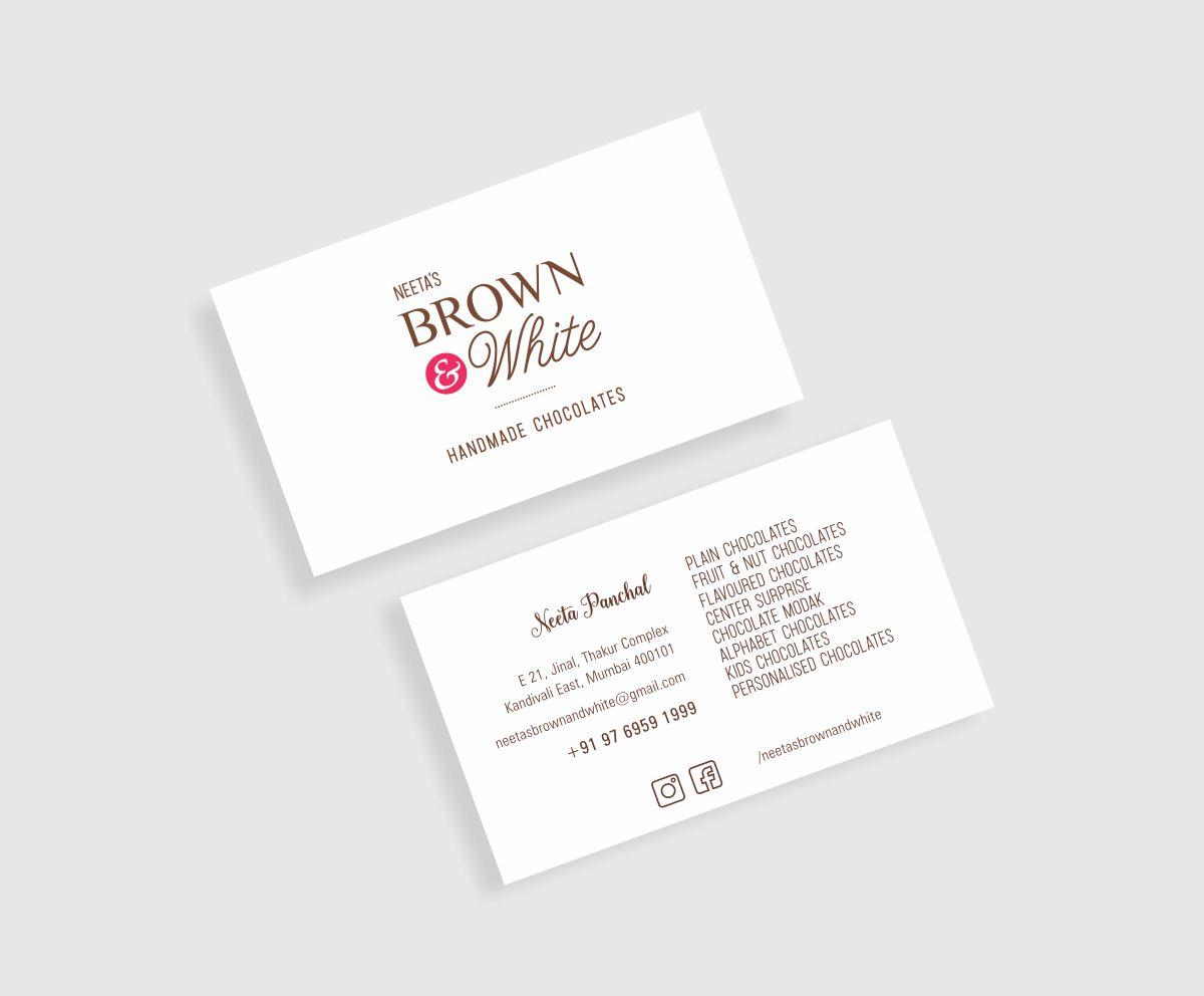 Business Card Design, Visiting Card Design for Handmade Chocolate Artisan