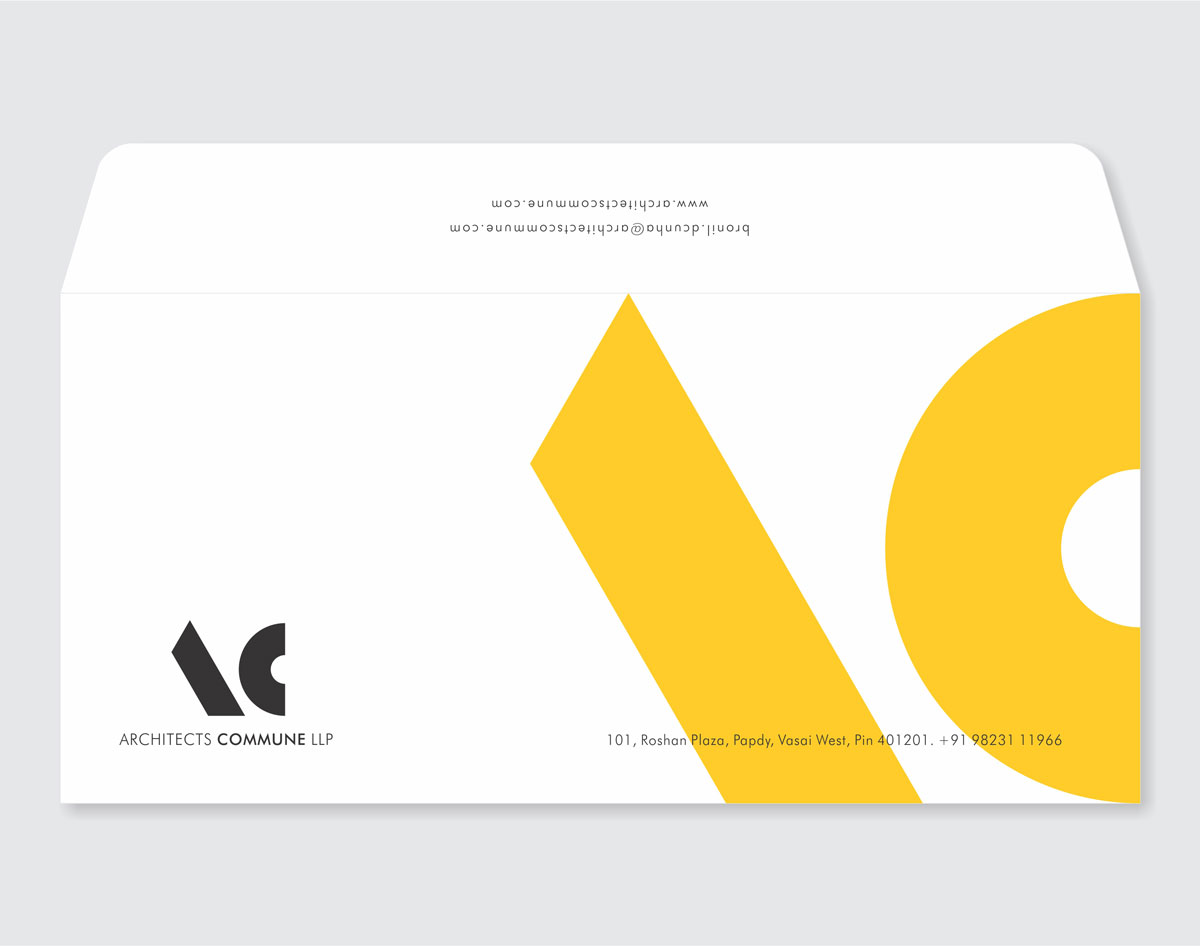 envelope design for architect