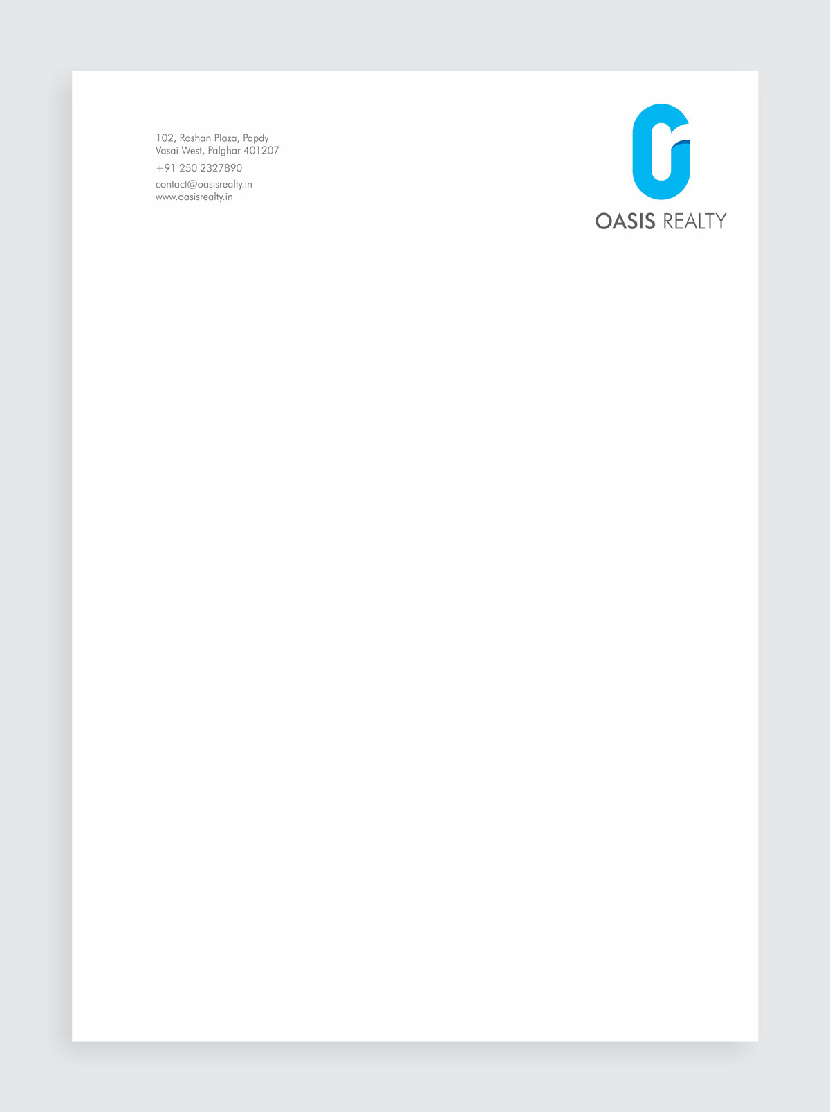 letter head design for realty company