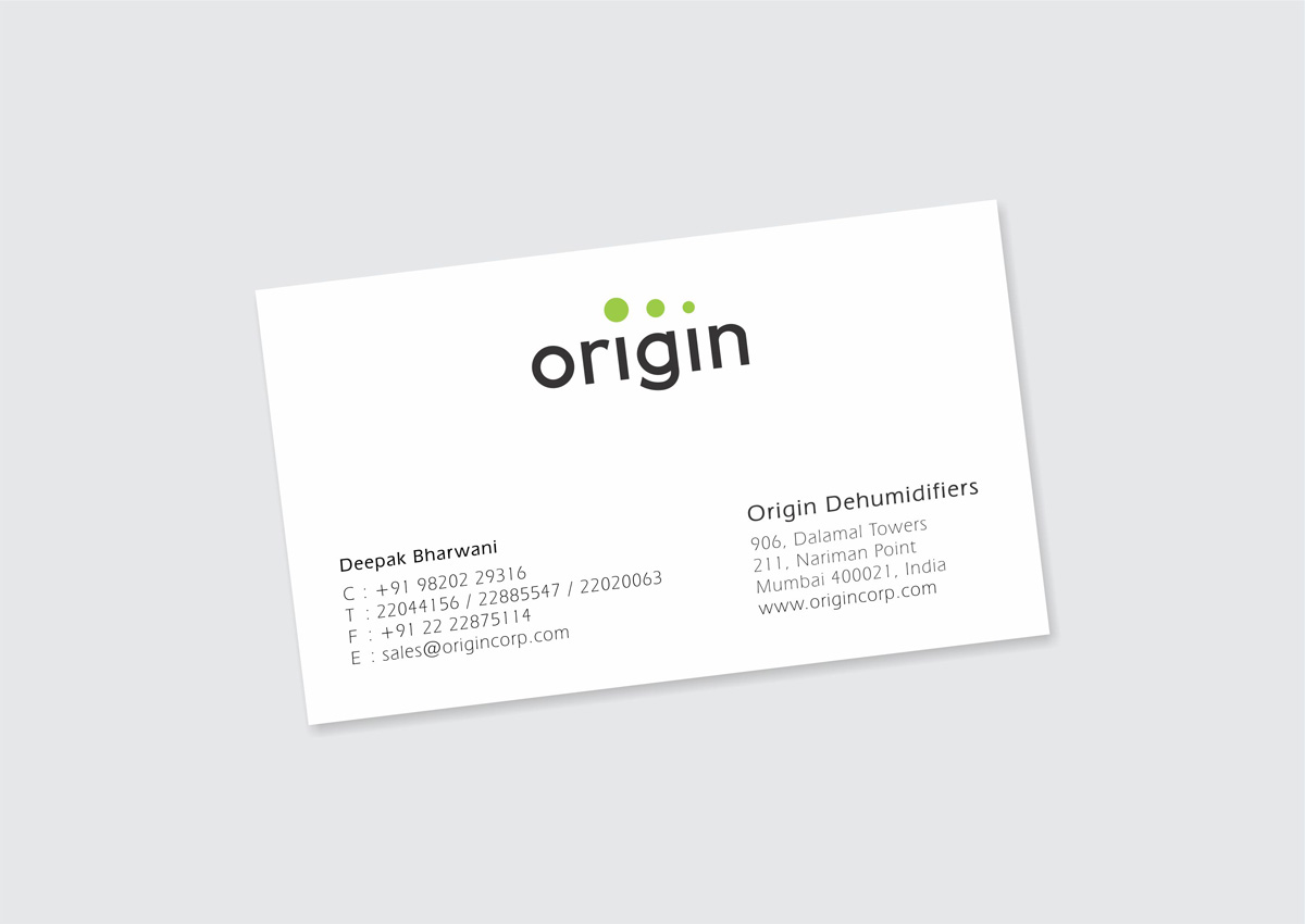 business card design, visiting card design for dehumidifier company