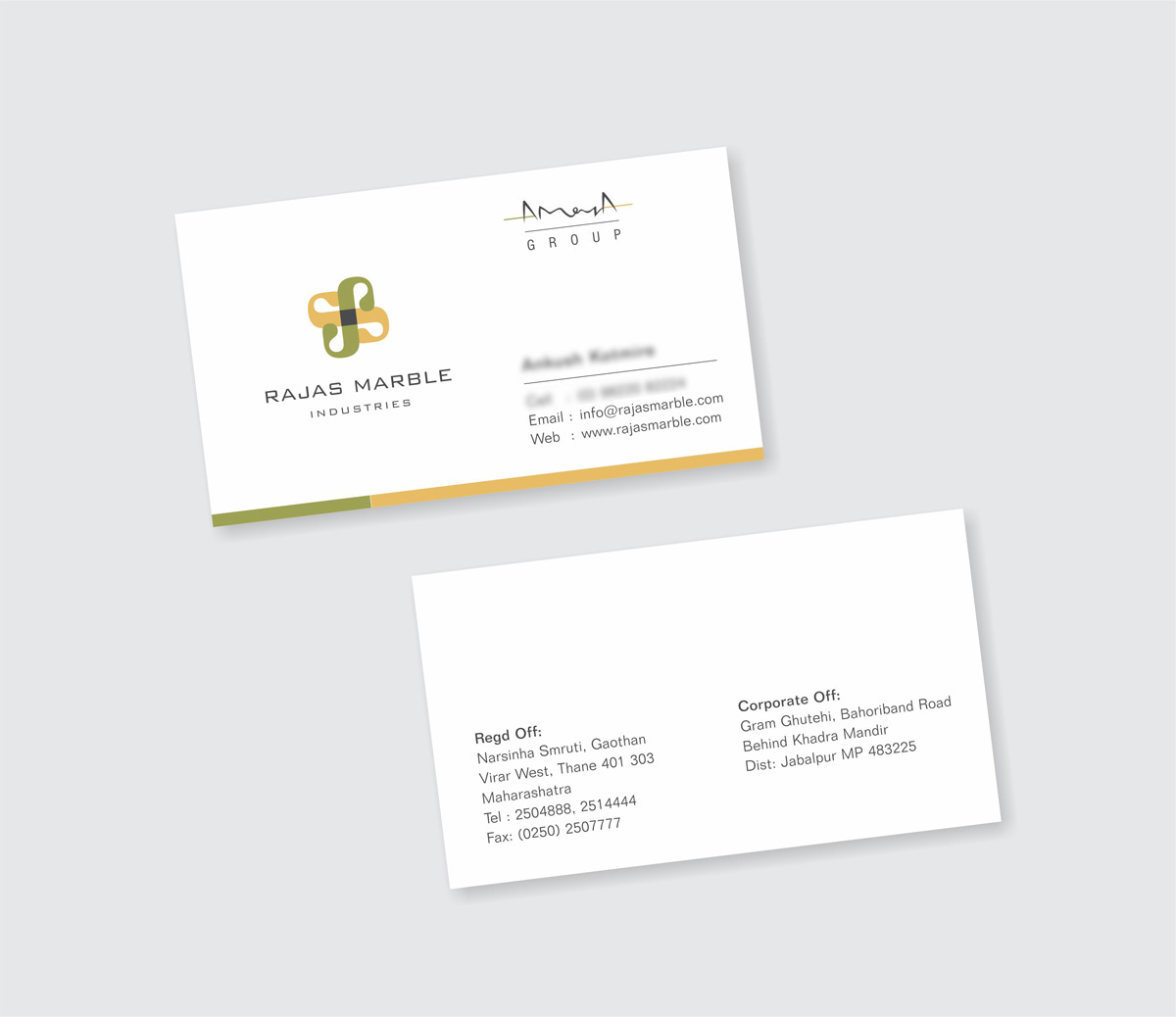business card design, visiting card design for marble mining company