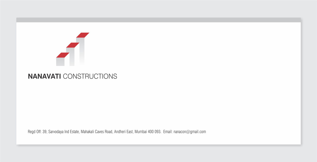 envelope design for construction company