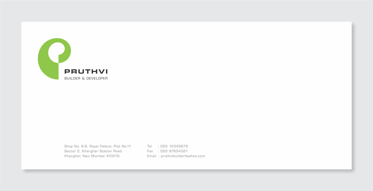envelope design for realty company