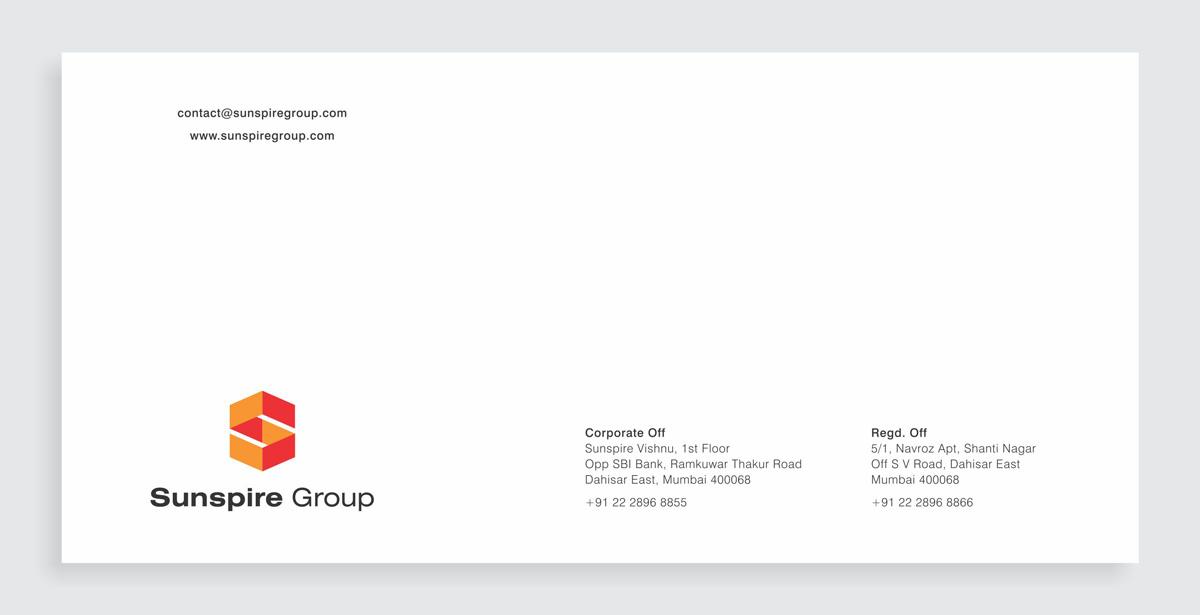 envelope design for construction company
