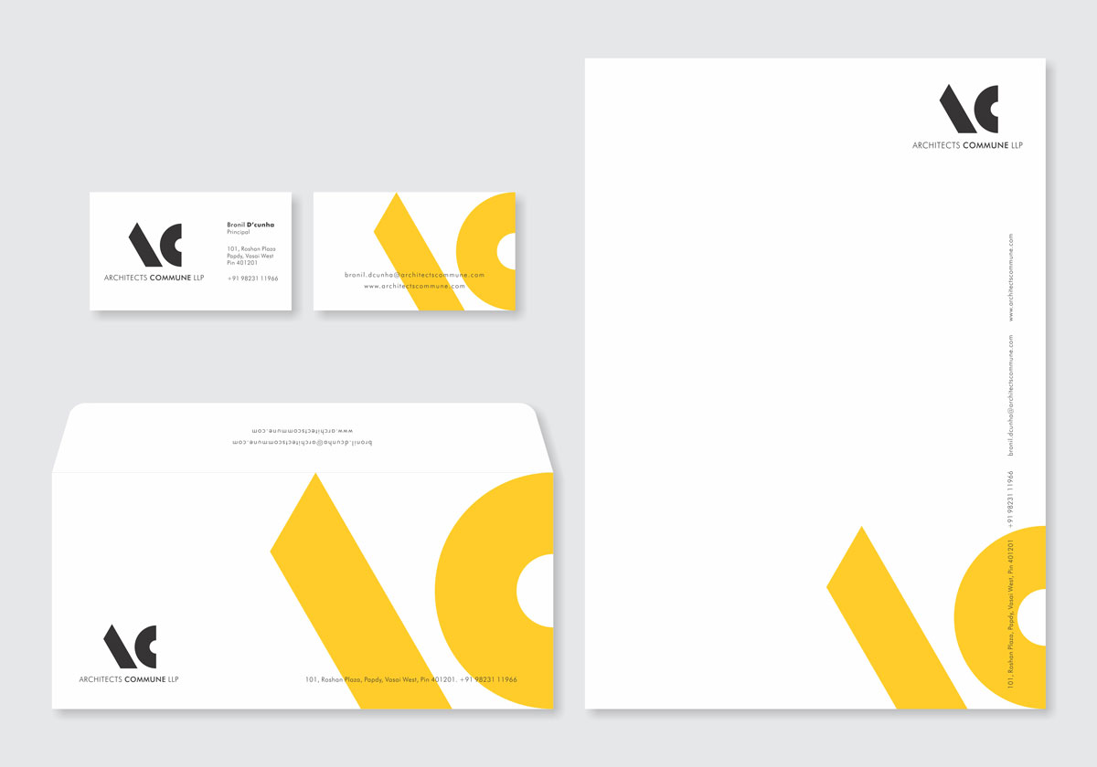 stationery design for architect