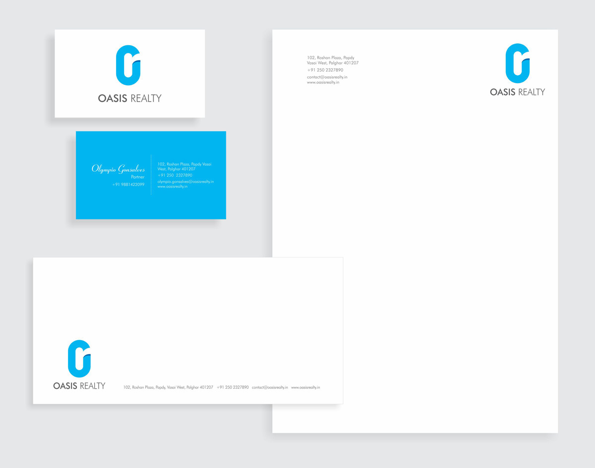 stationery design for realty company