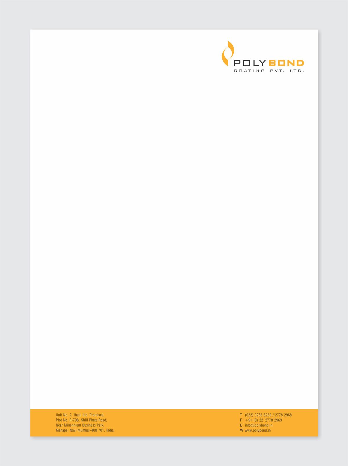 letter head design for mfr. of powder coating powders