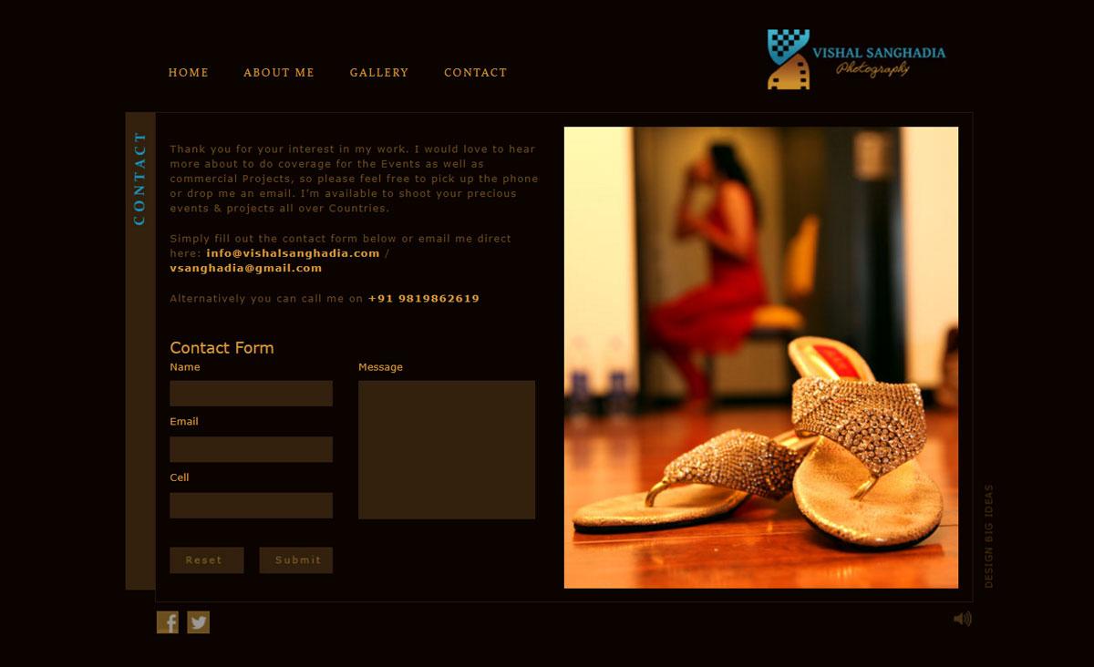 Website Design for Photographer