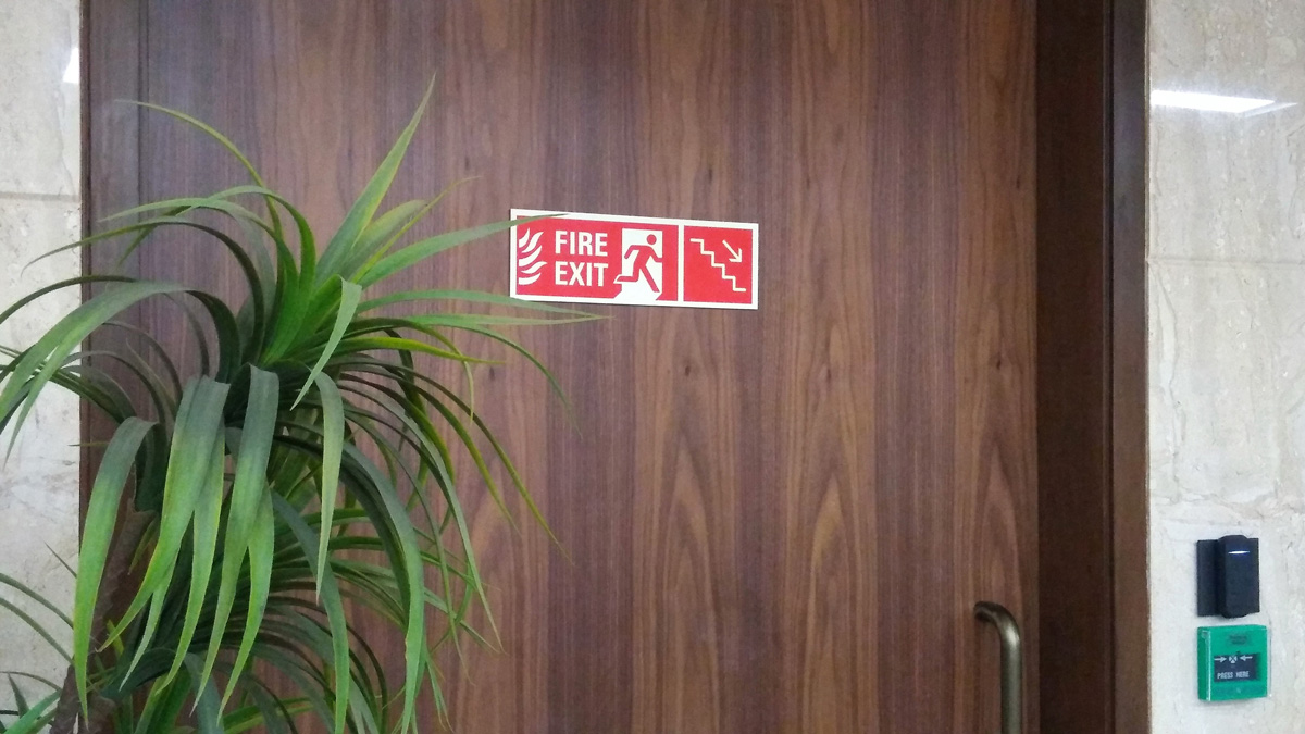 emergency signage design for corporate office