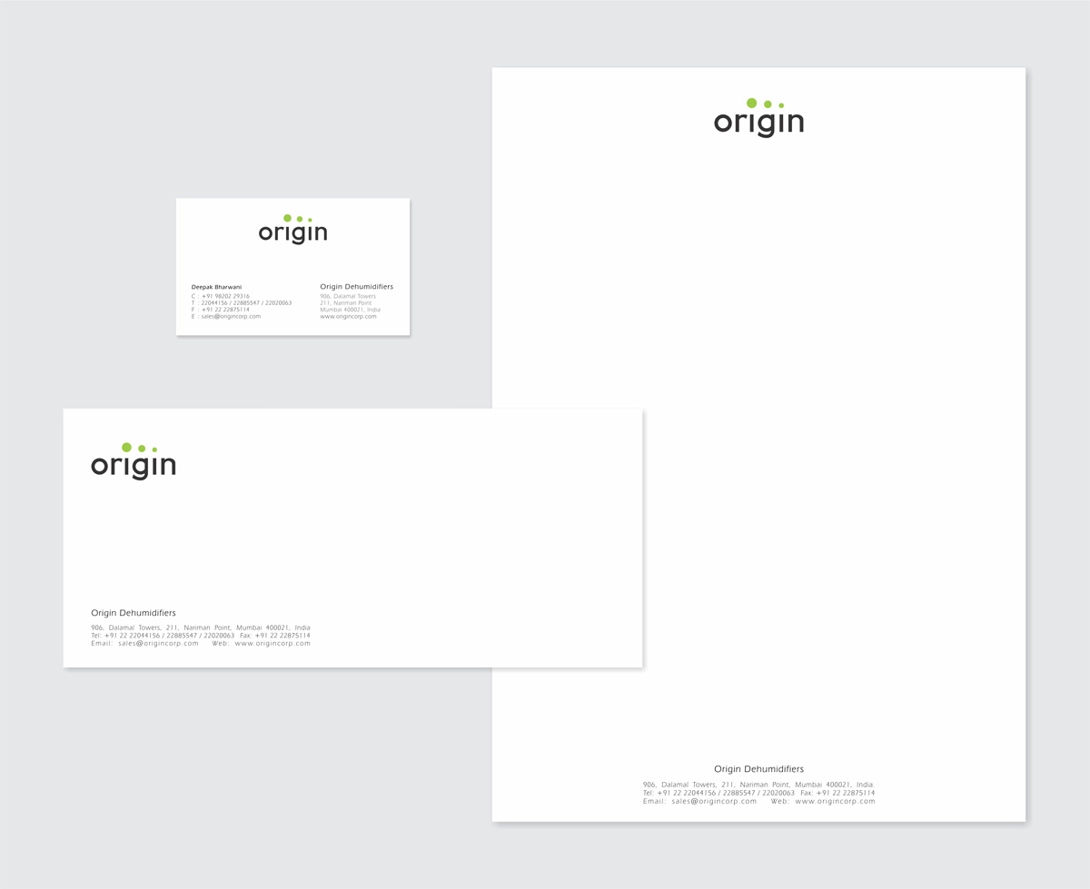 stationery design for dehumidifier company