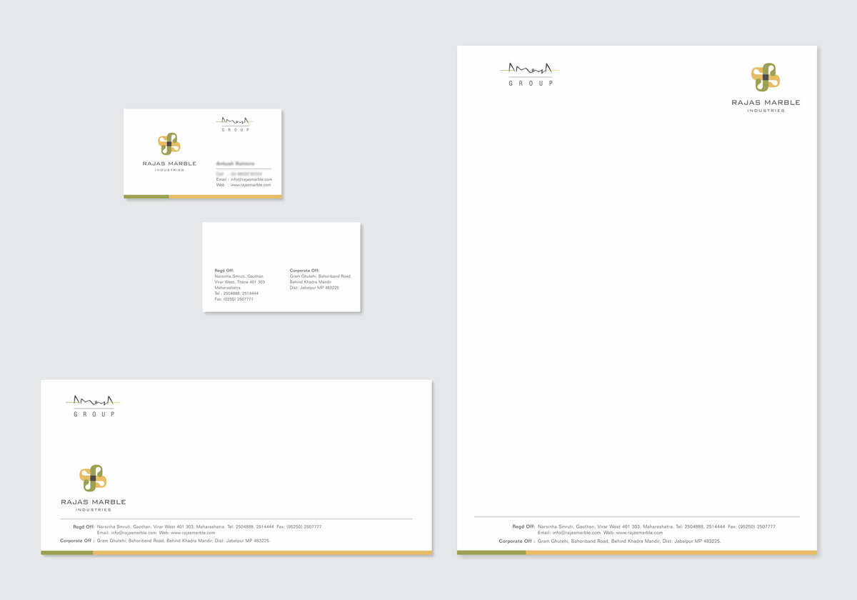 stationery design for marble mining company