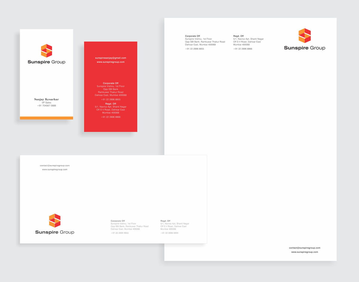 stationery design for construction company