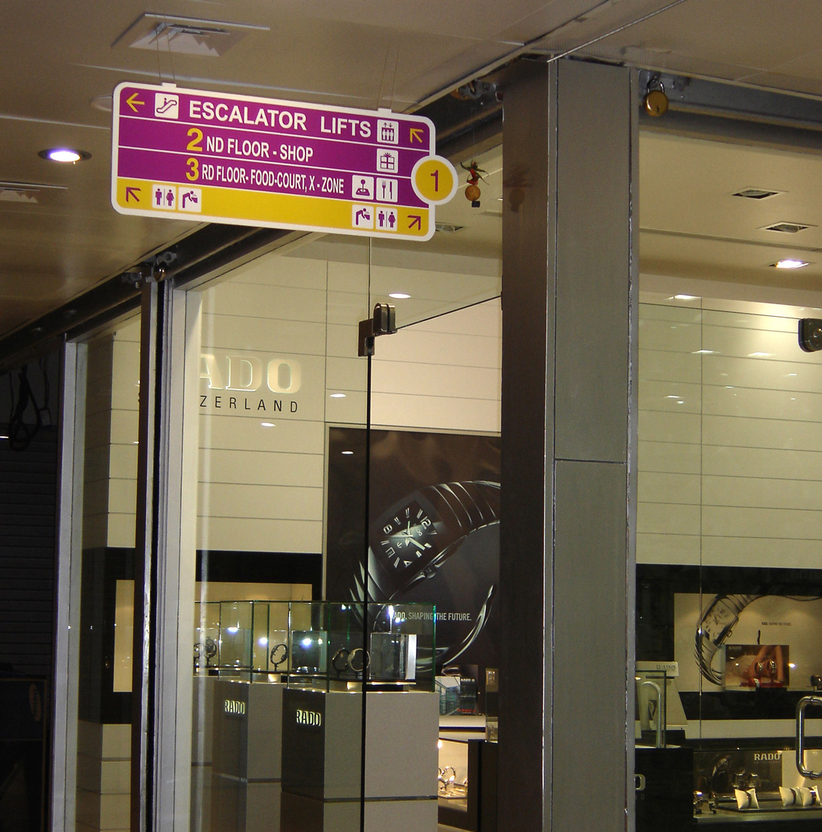 Directional Signage for Mall