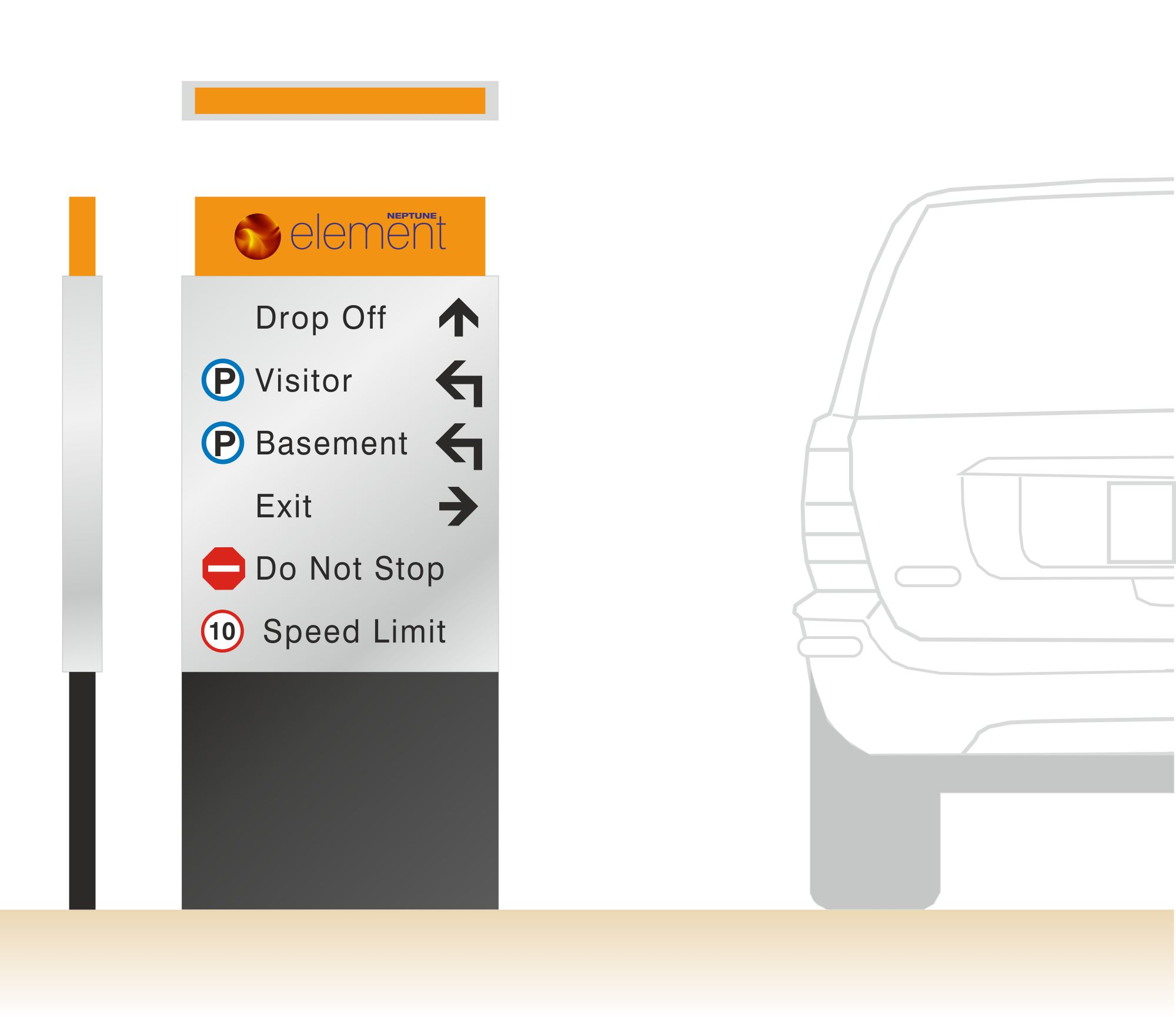 Vehicular Way finding Signage