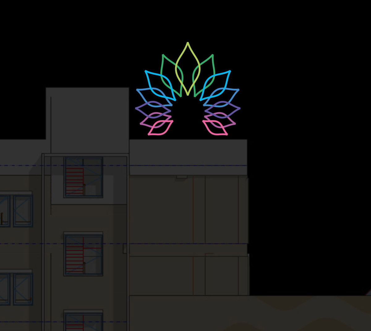 Outdoor Signage Design for Shree Bajrangdasbapa Arogyadham