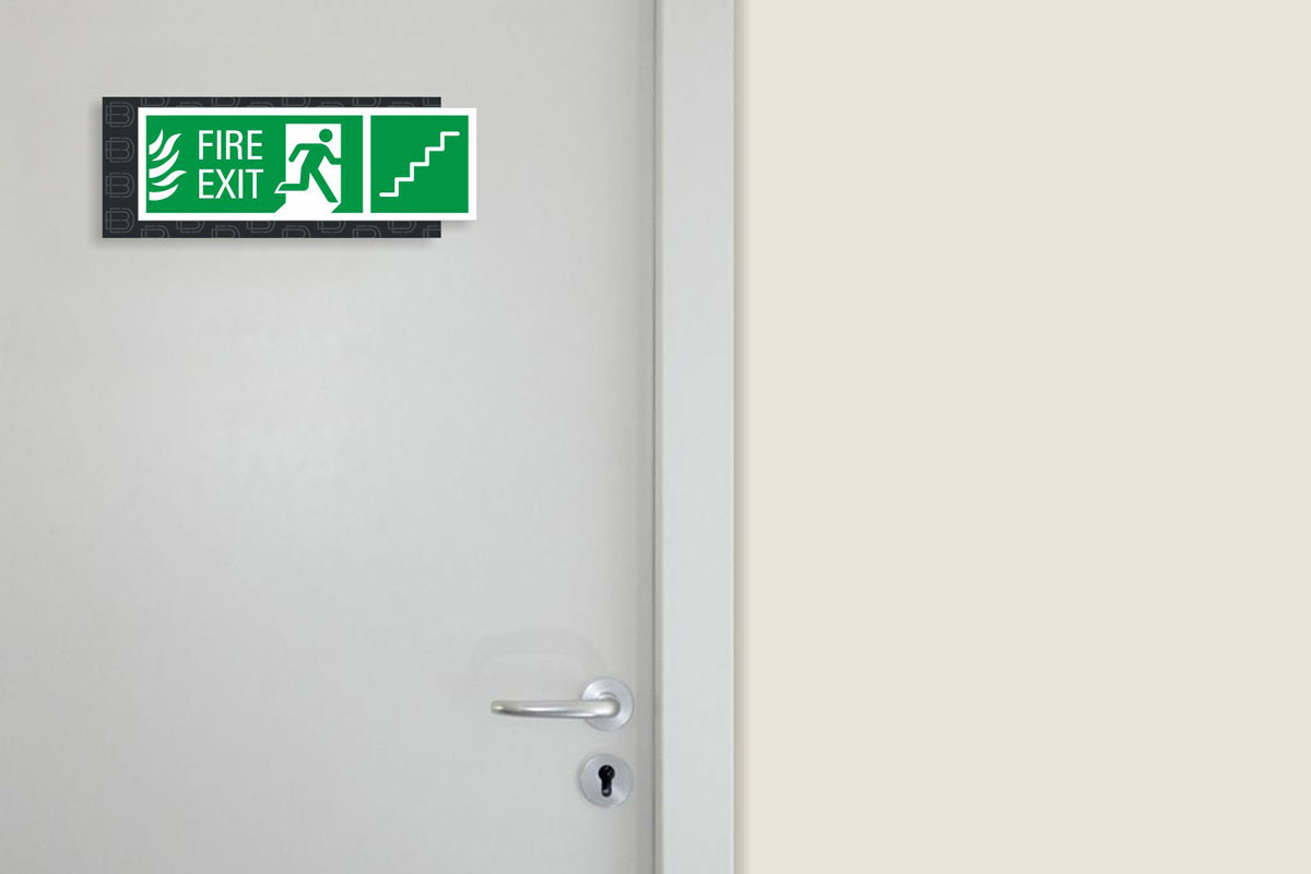 emergency signage design for mall and commercial center
