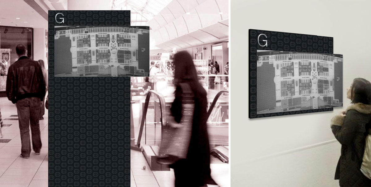 map signage design for mall and commercial center