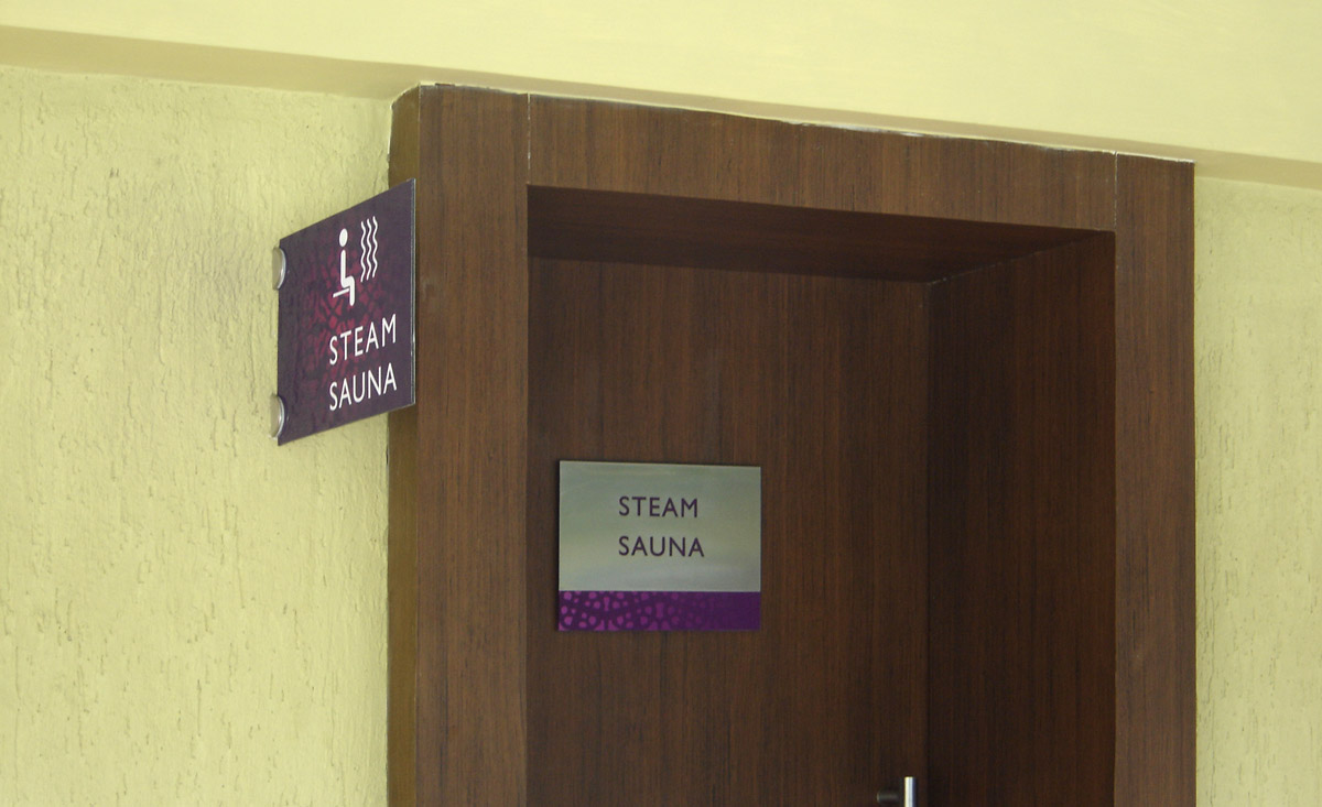 department signage design for clubhouse