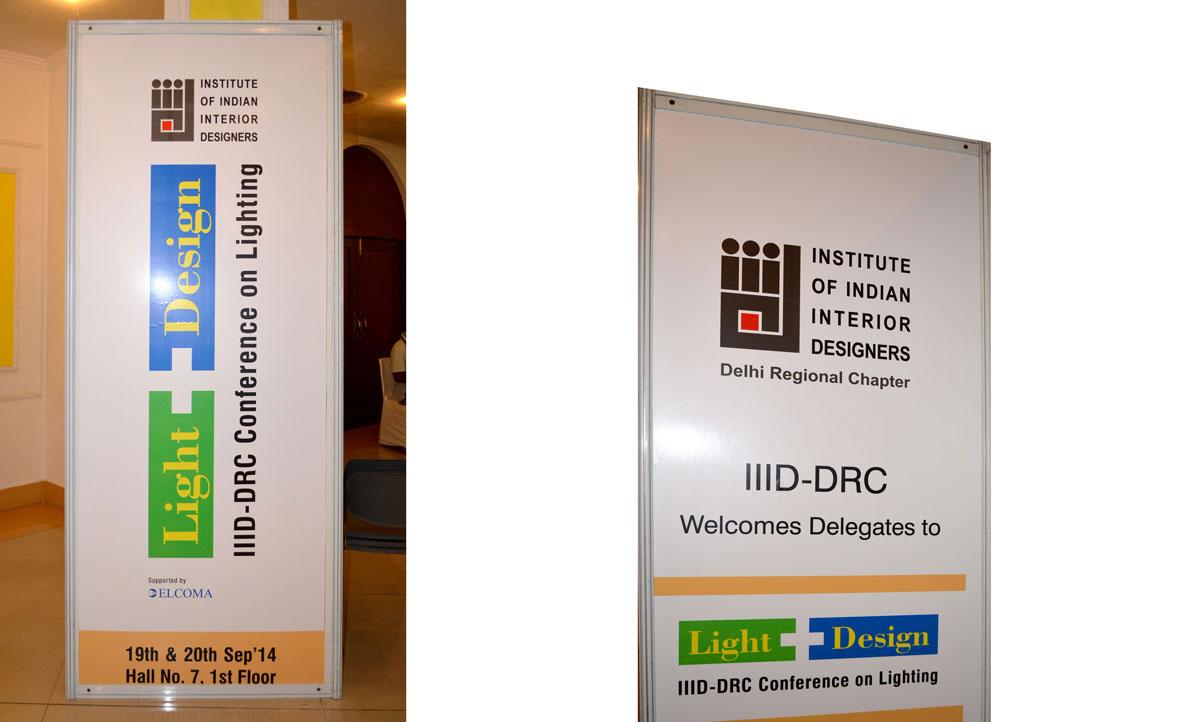 banner design for lighting event