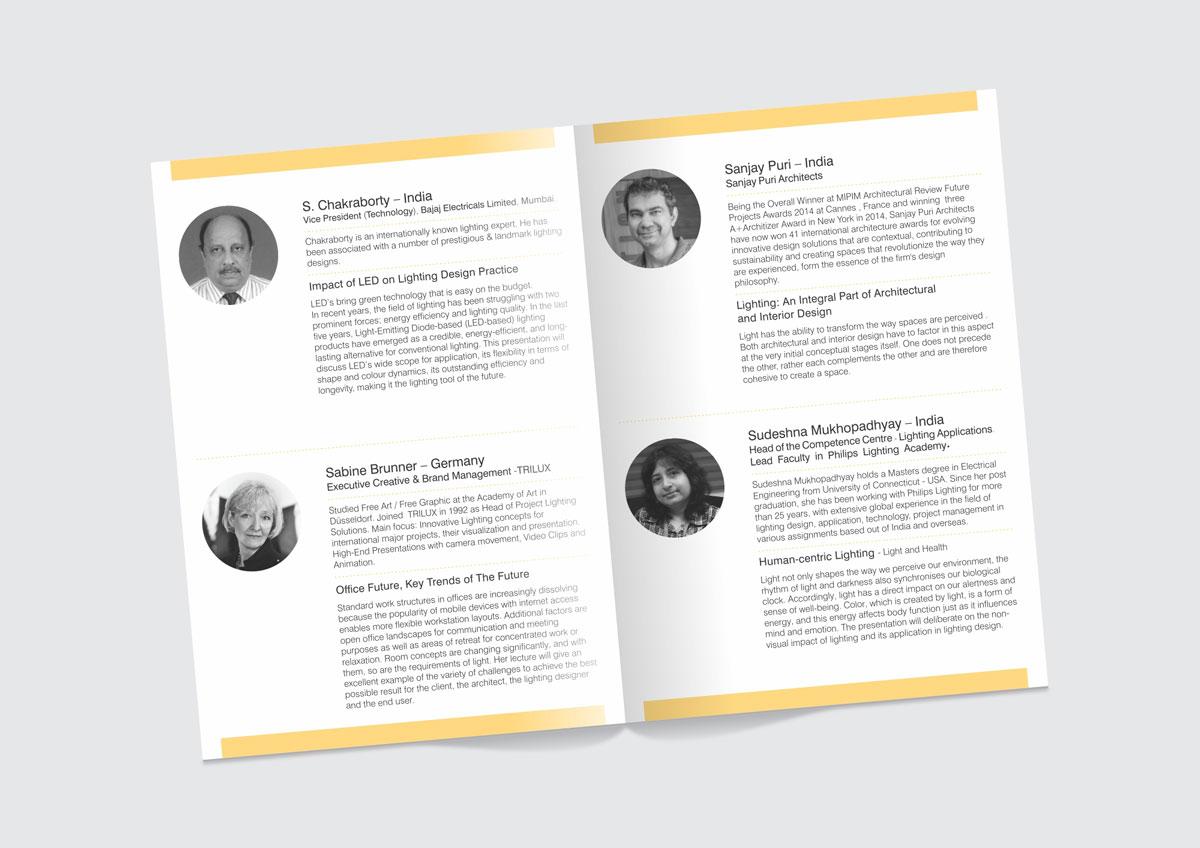 brochure design for lighting event