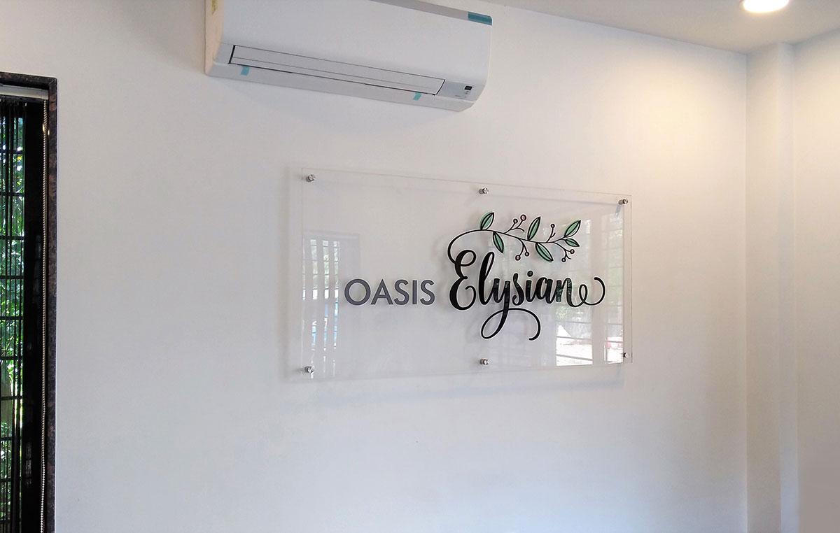 logo signage design for residential building
