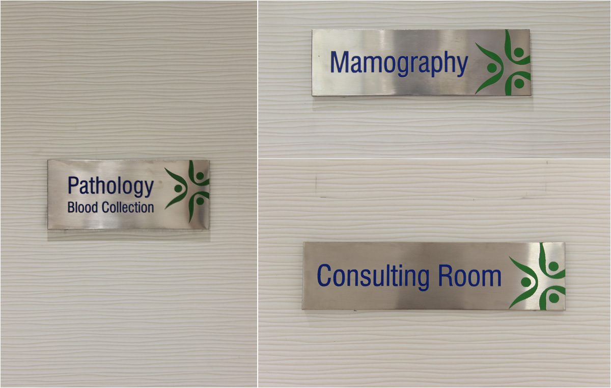 Department signage for Diagnostic Centre