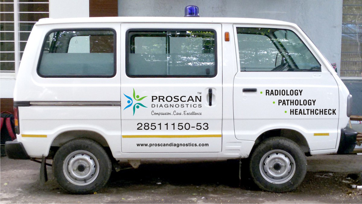 Logo Design on Ambulance, Branding on Ambulance