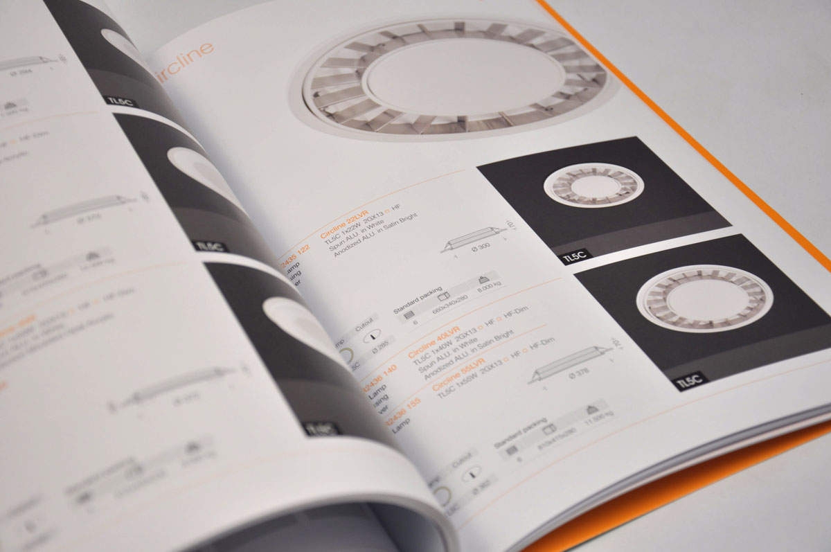 Brochure Design for Lighting products