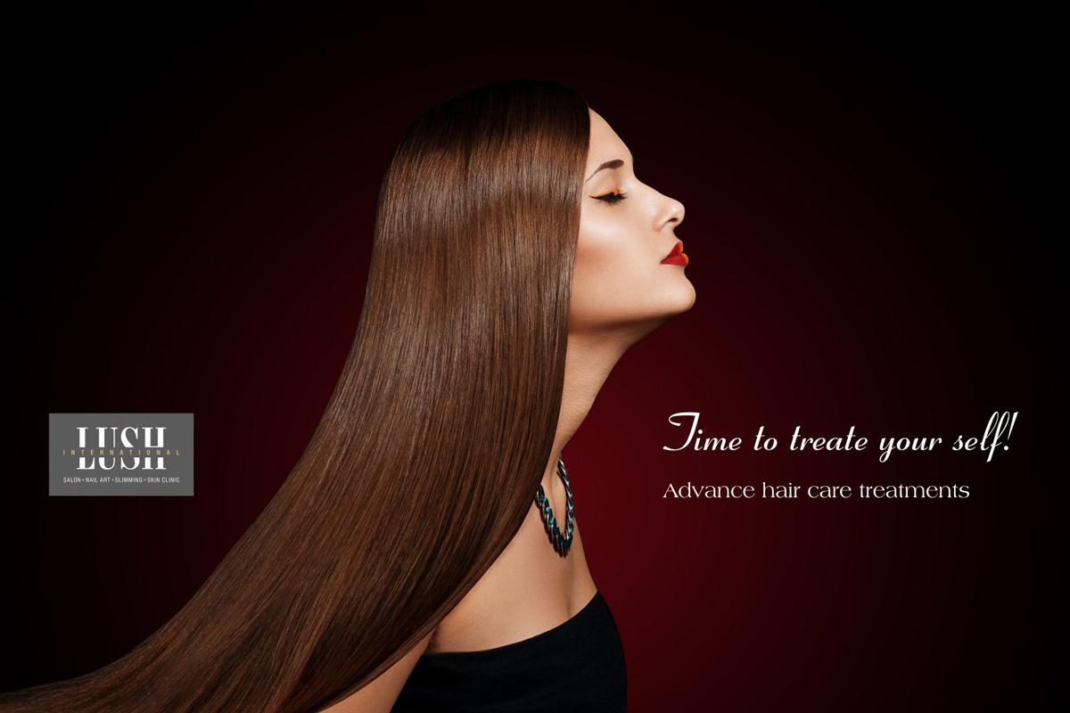 poster design for hair care, salon