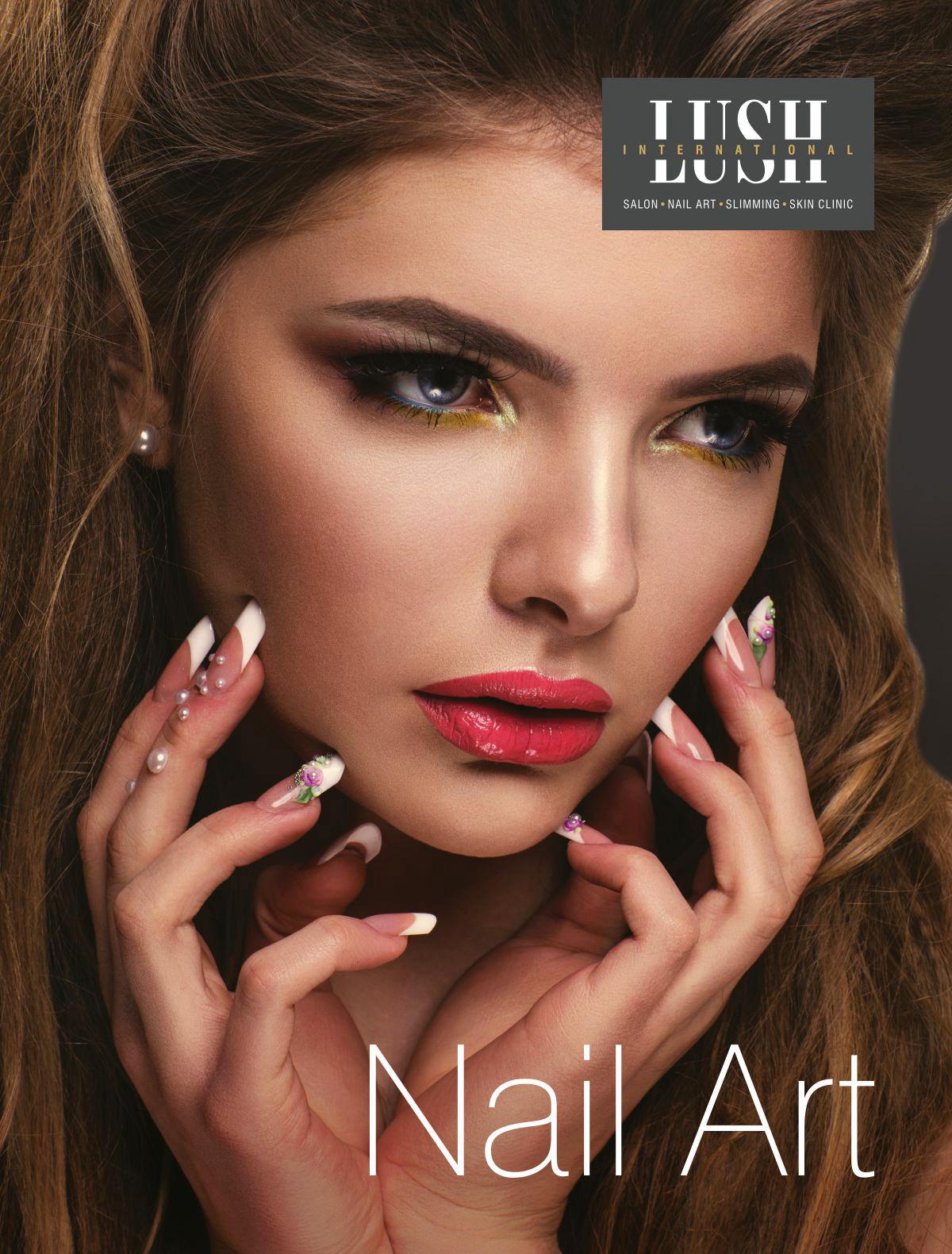 poster design for nail art, salon
