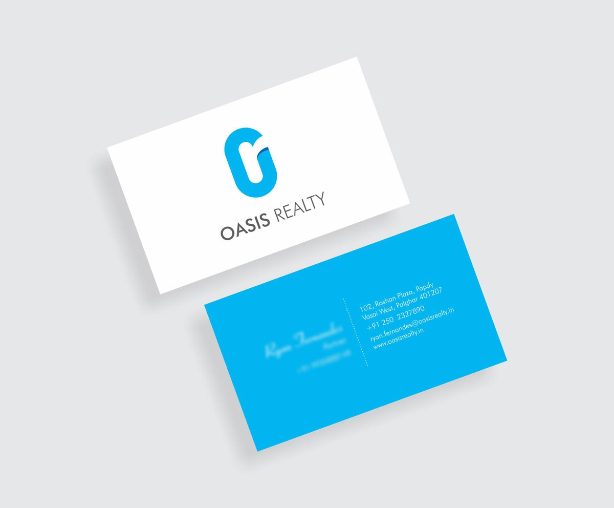 Business Card Design, Visiting Card Design for Oasis Realty