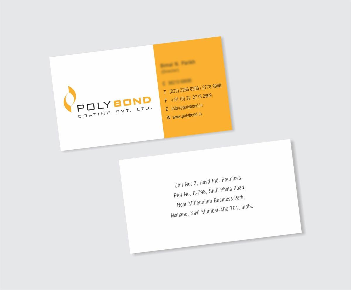 Business Card Design, Visiting Card Design for Polybond Coating