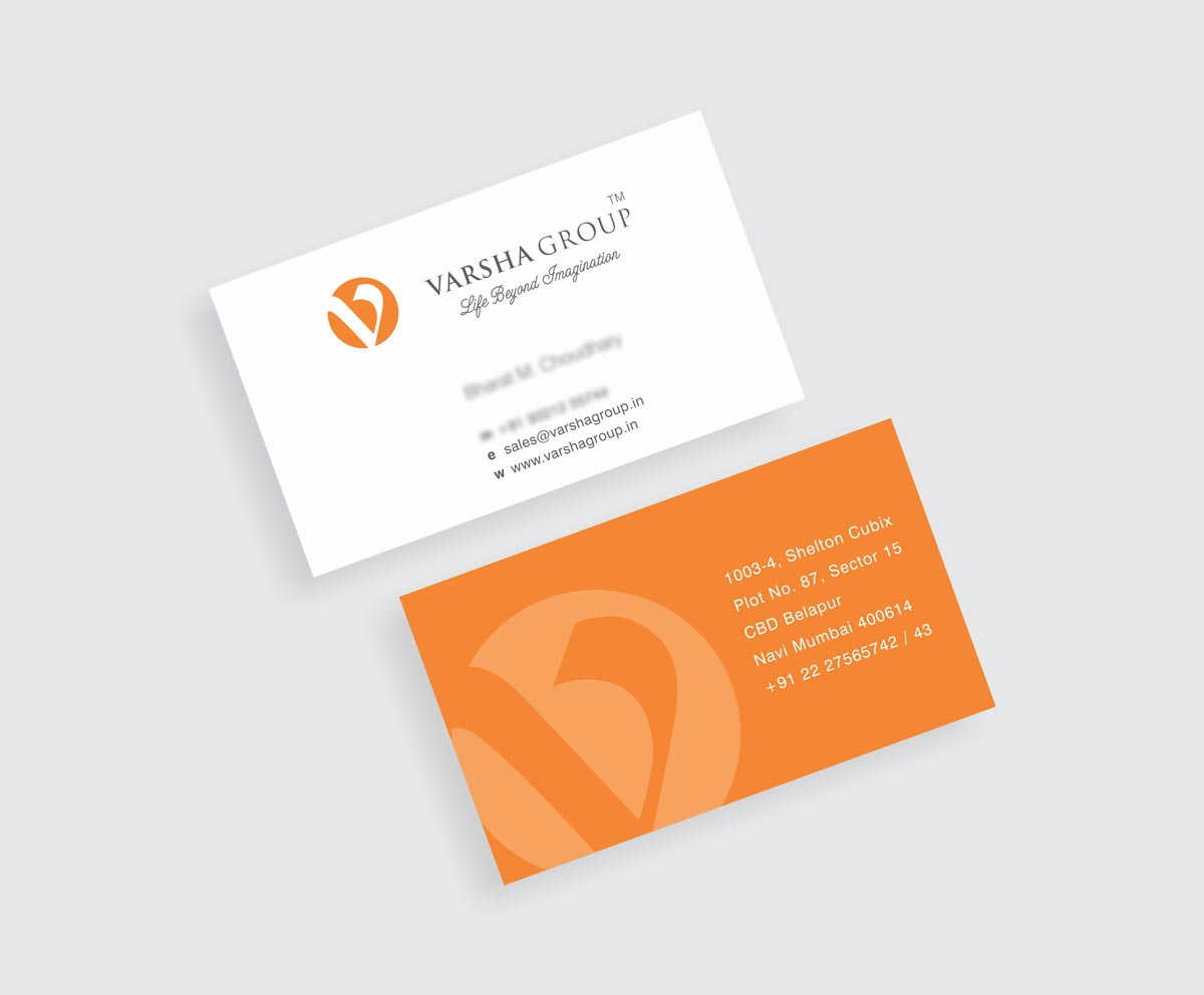 Business Card Design, Visiting Card Design for Varsha Group