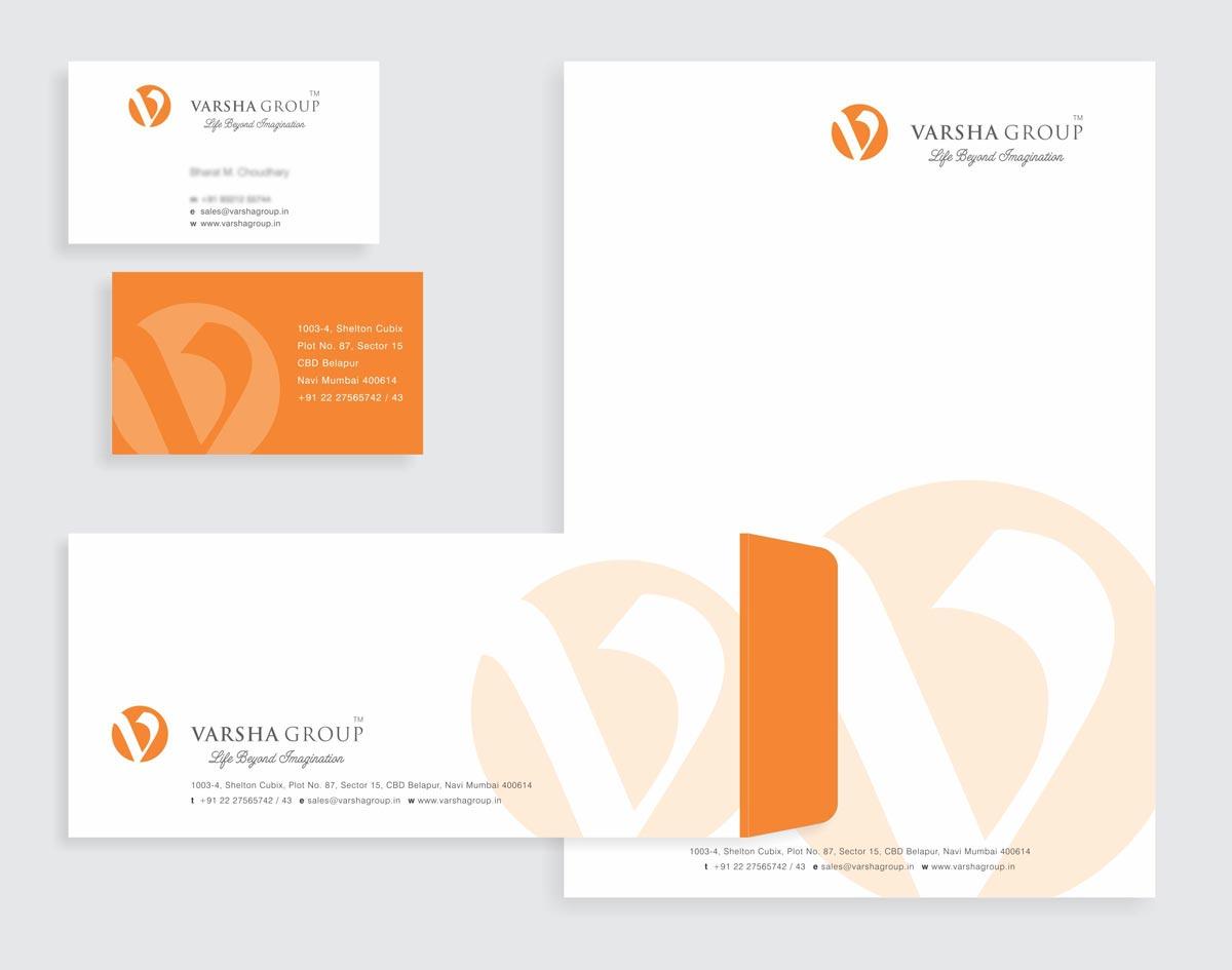 Stationery Design for Varsha Group